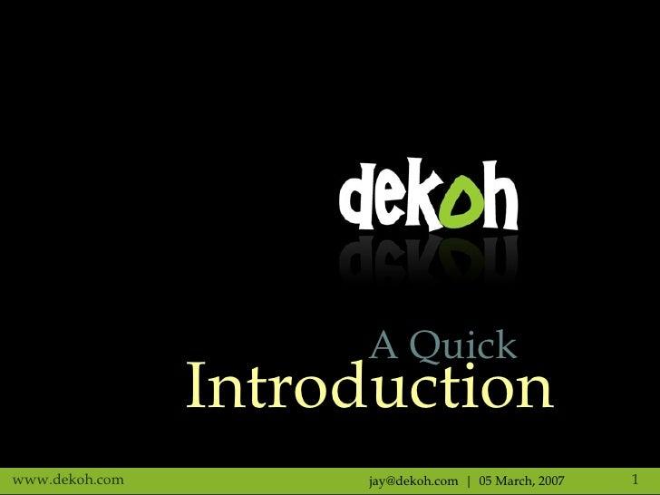 Dekoh Press Meet, Bangalore, India