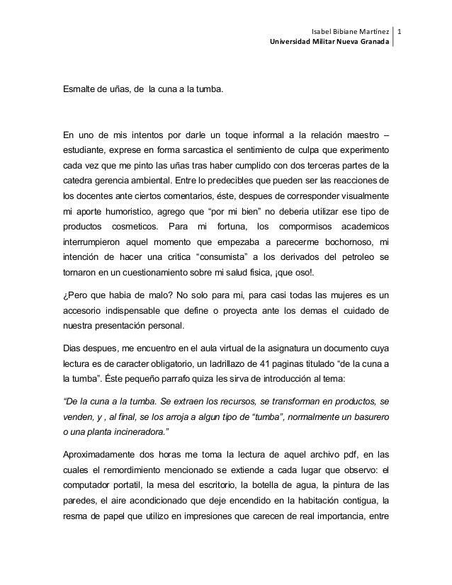 Isabel  Bibiane  Martínez   Universidad  Militar  Nueva  Granada   1      Esmalte de uñas, de la cuna a ...