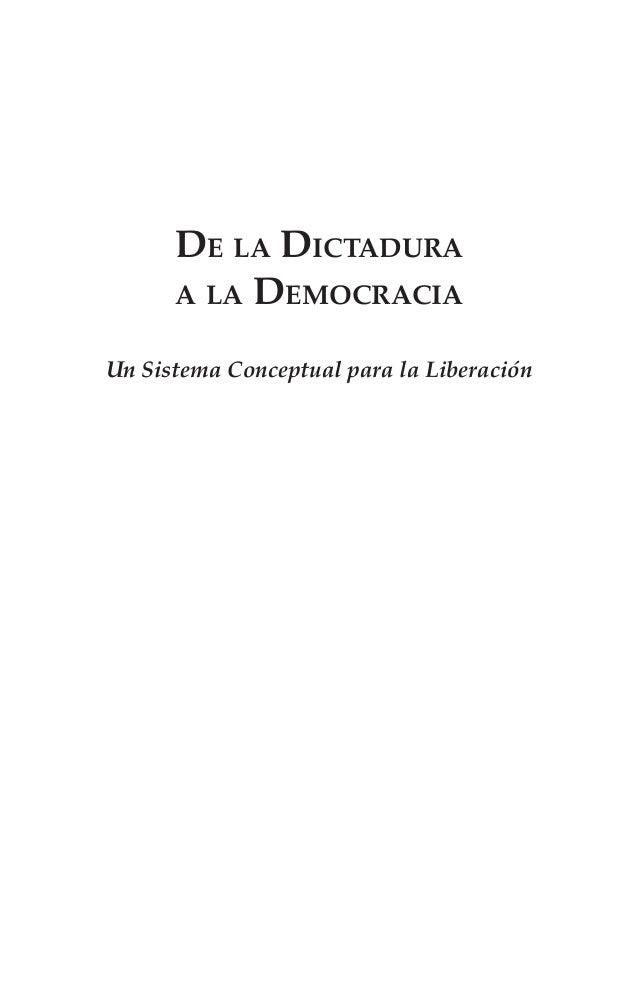 De la Dictadura a la Democracia Un Sistema Conceptual para la Liberación
