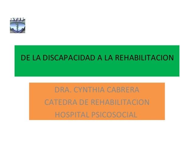 De la discapacidad a la rehabilitación