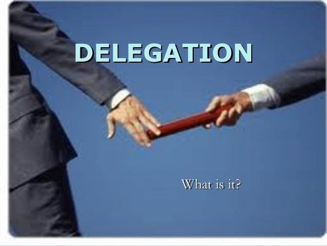 DELEGATION     What is it?