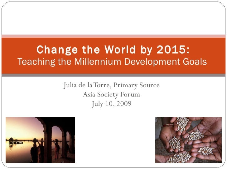 Change The World By 2015