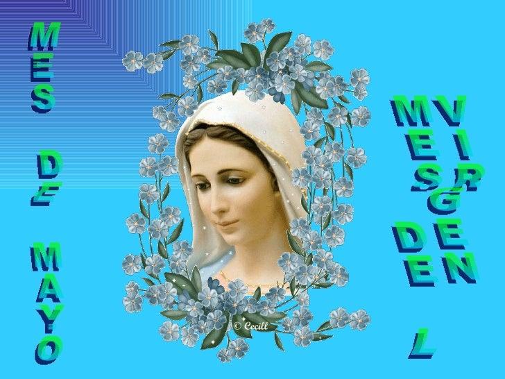 MES DE MAYO MES DE LA VIRGEN