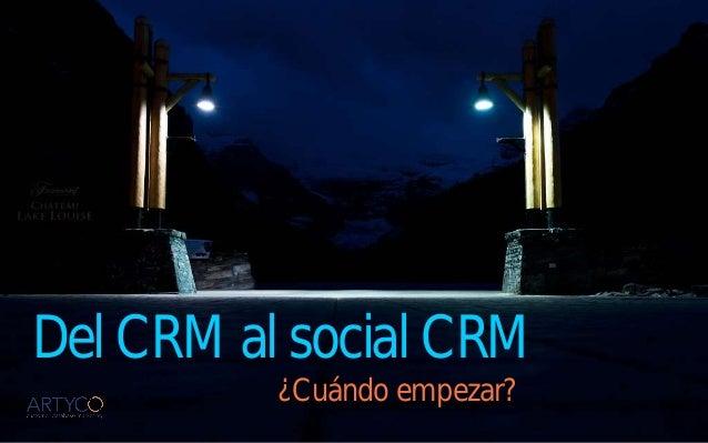 Del CRM al Social CRM