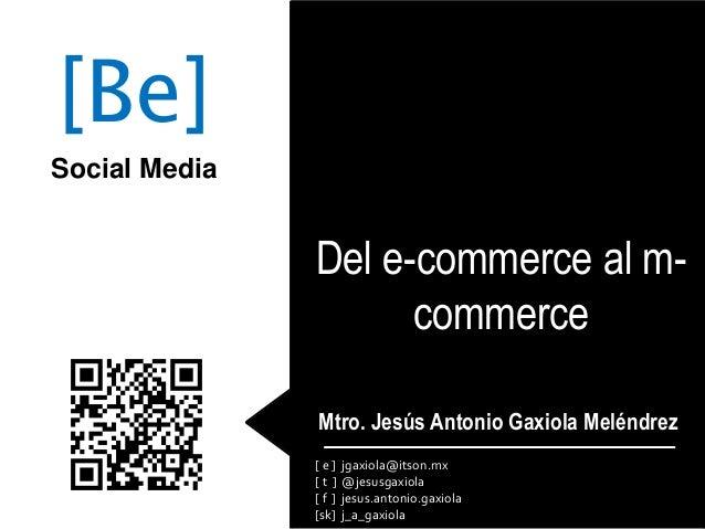 Del e-commerce al m-commerce