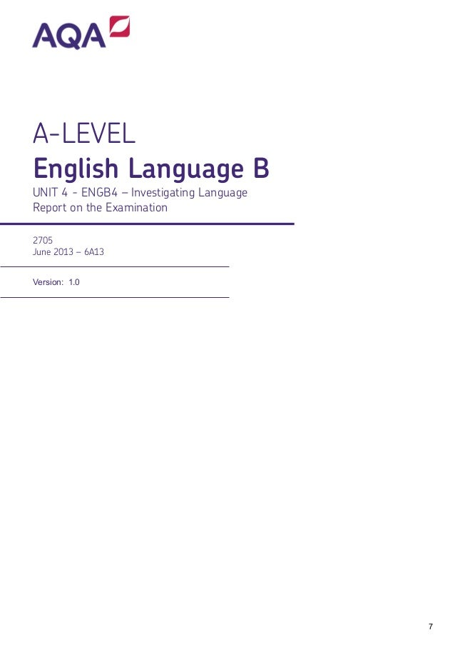 a2 english language coursework aqa
