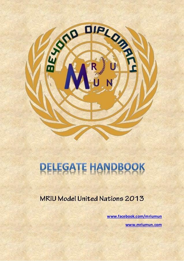 Delegate handbook for mun