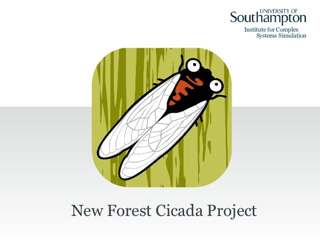 Institute for Complex                            Systems SimulationNew Forest Cicada Project