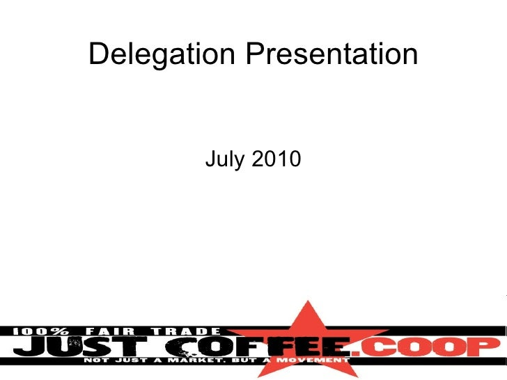 Delegation presentation compressed