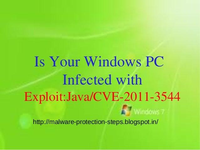 Delete exploit:java\cve 2011-3544 : How To Delete exploit:java\cve 2011-3544