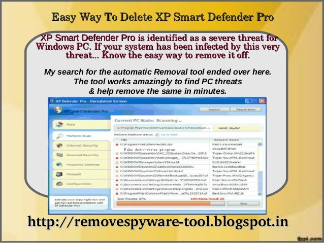 EasyWayToDeleteXPSmartDefenderPro  XP Smart Defender Proisidentifiedasaseverethreatfor               How To...
