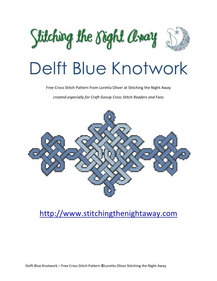 Delft blue knotwork free cross stitch pattern forcraftgossip