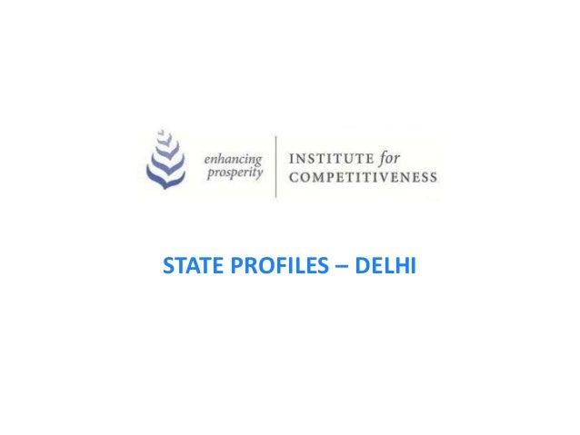 STATE PROFILES – DELHI
