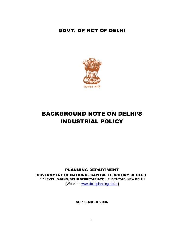 Delhi draft industrialpolicy