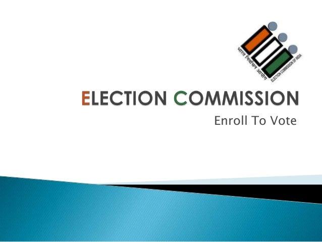 Enroll To Vote