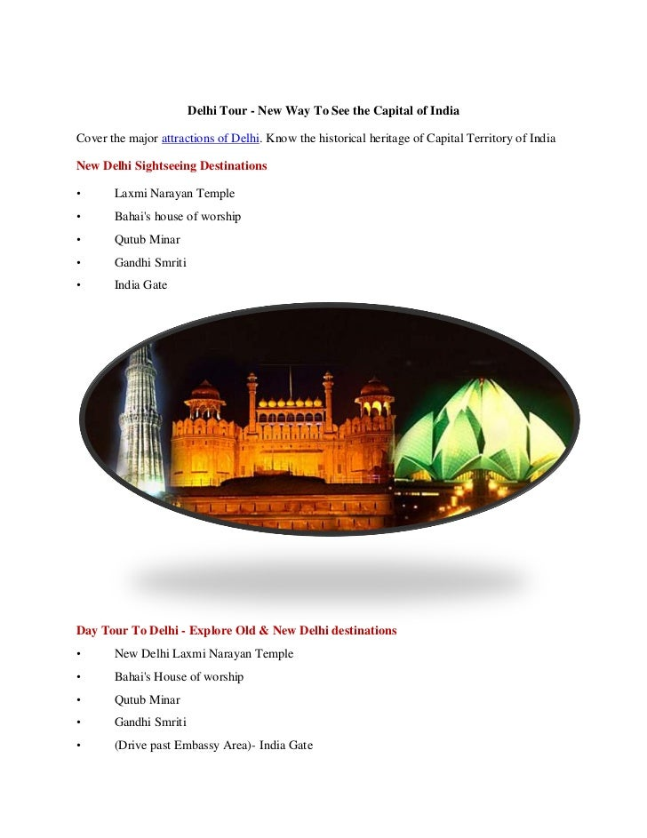 Delhi Day Tour Sightseeing at a Glance