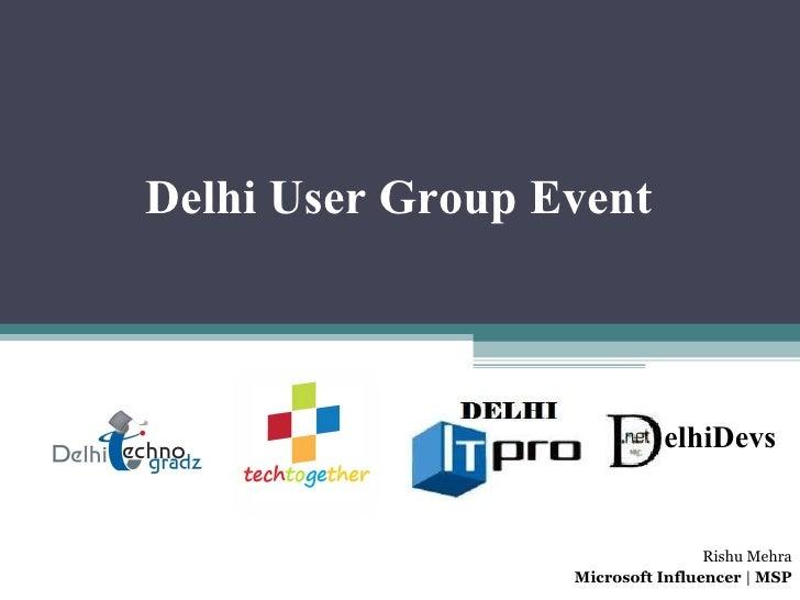 Delhi User Group Event