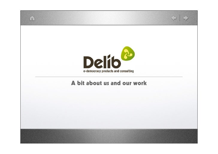 Delib: a bit about us and our work