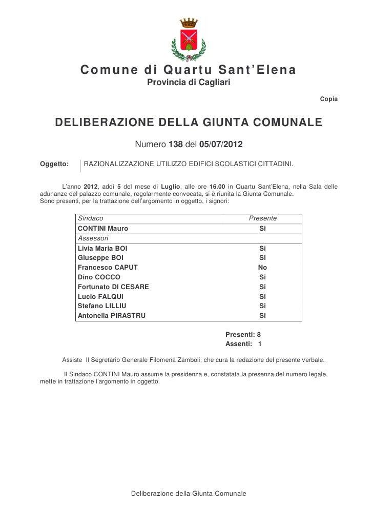 Comune di Quartu Sant'Elena                                    Provincia di Cagliari                                      ...
