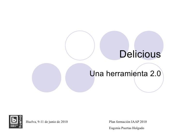 Delicious Una herramienta 2.0