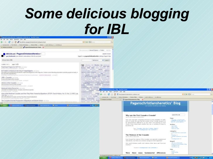 Jamie Wood, Some delicious blogging for IBL, May 2008