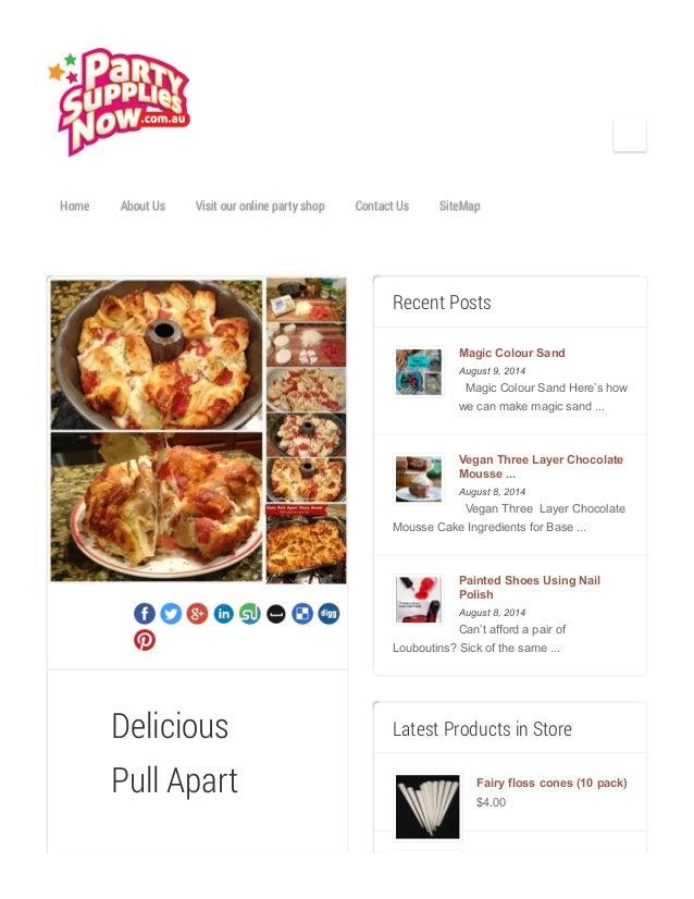 Home About Us Visit our online party shop Contact Us SiteMap Delicious Pull Apart Recent Posts Magic Colour Sand August 9,...