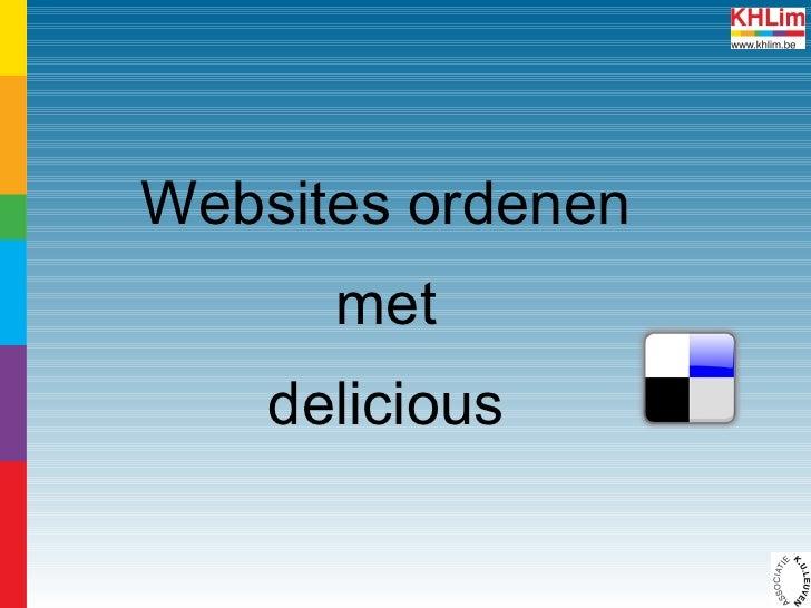 Favoriete websites verzamelen via Delicious