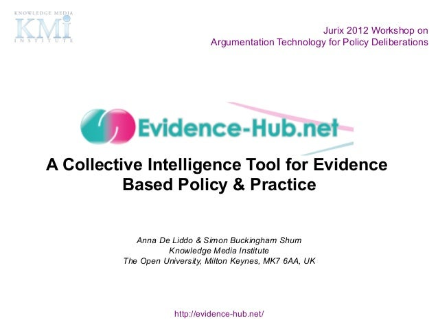Jurix 2012 Workshop on                              Argumentation Technology for Policy DeliberationsA Collective Intellig...