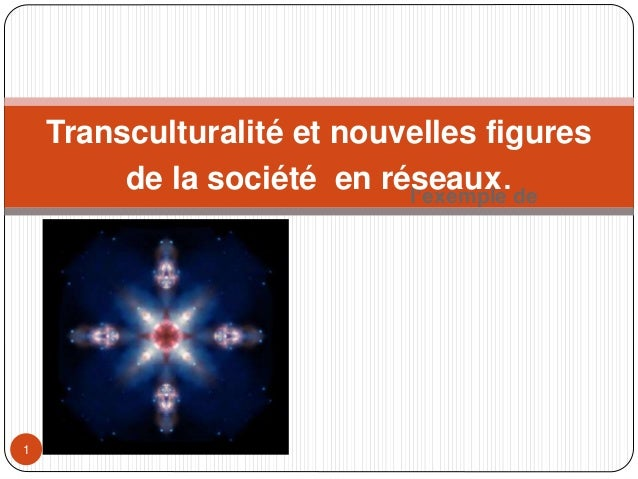 l'exemple de Georges Bertin, CNAM1 Transculturalité et nouvelles figures de la société en réseaux.