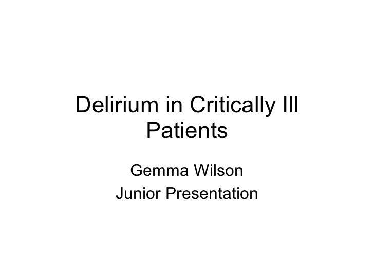 Delirium Gemma W