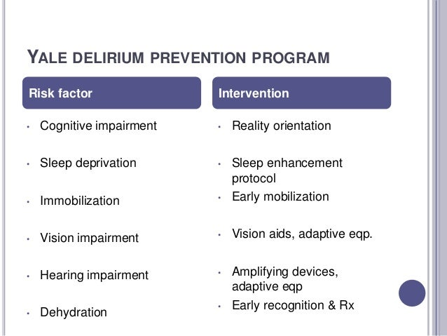 Don't Reinvent the Wheel When it comes to Delirium Prevention ...