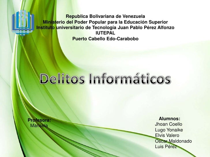 Republica Bolivariana de Venezuela <br />Ministerio del Poder Popular para la Educación Superior<br />Instituto universita...