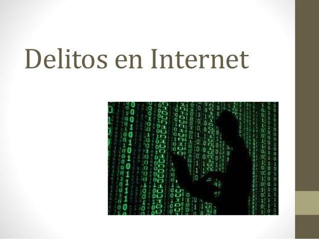 Delitos en Internet