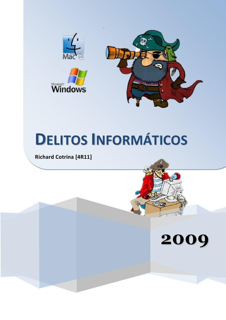 DELITOS INFORMÁTICOS Richard Cotrina [4R11]                              2009