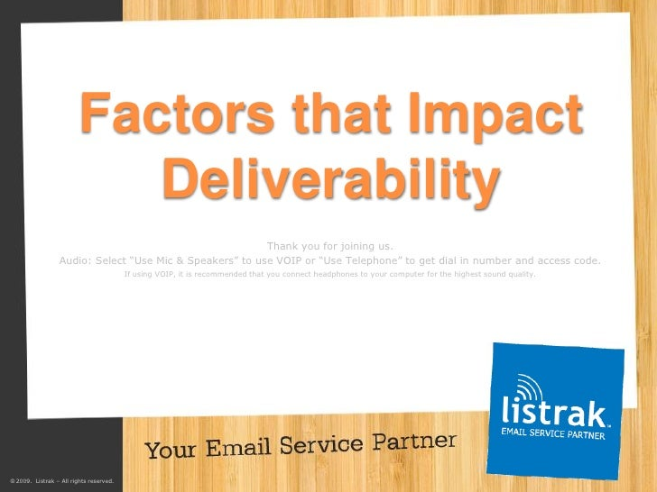 Factors that Impact                             Deliverability                                                          Th...
