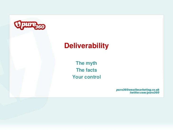 Deliverability: You are in Control