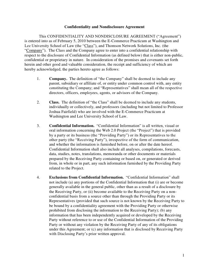 """Confidentiality and Nondisclosure Agreement<br /> This CONFIDENTIALITY AND NONDISCLOSURE AGREEMENT (""""Agreement"""") is enter..."""