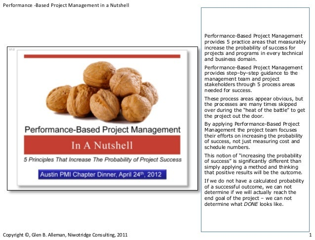 Performance -Based Project Management in a Nutshell                                                            Performance...