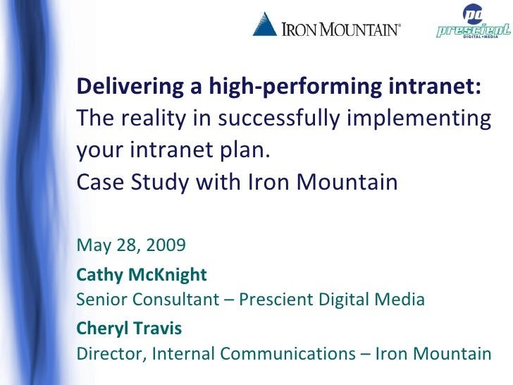 Delivering A High Performing Intranet Webinar 090528 Post