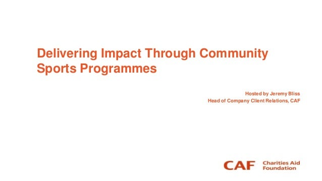 Delivering impact through community sports programmes