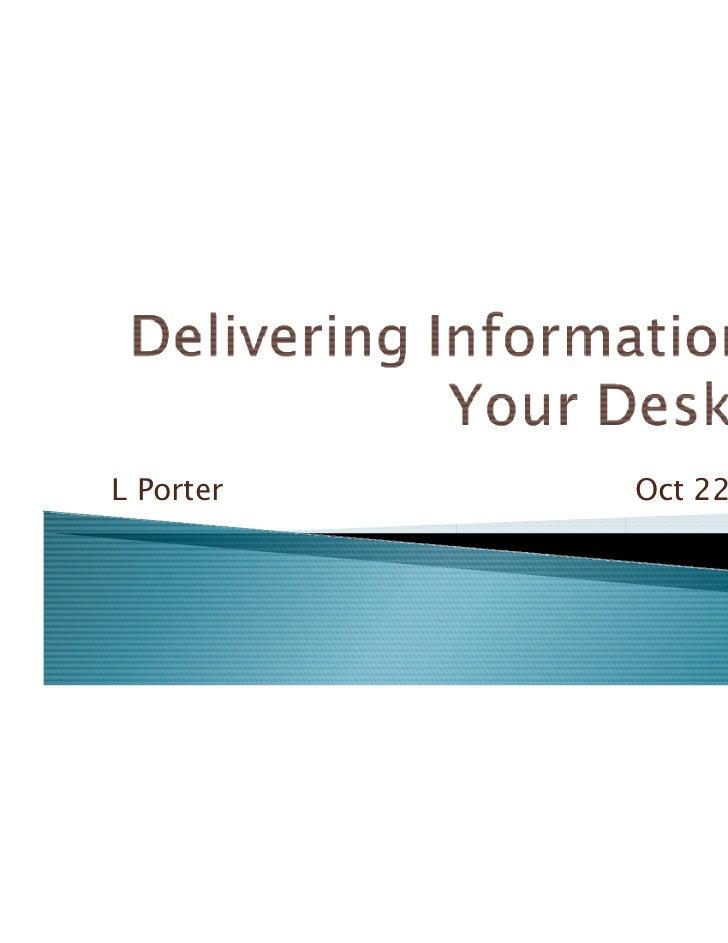 L Porter   Oct 22, 2011