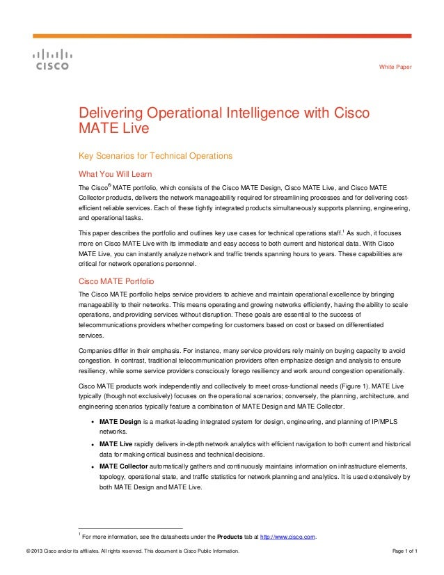 © 2013 Cisco and/or its affiliates. All rights reserved. This document is Cisco Public Information. Page 1 of 1 White Pape...