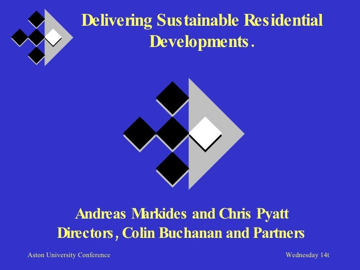 Delivering sustainable residential development