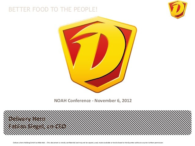 BETTER FOOD TO THE PEOPLE!                                                                               NOAH Conference...