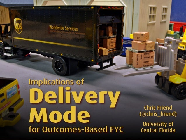 Implications of Delivery Mode for Outcomes-Based FYC