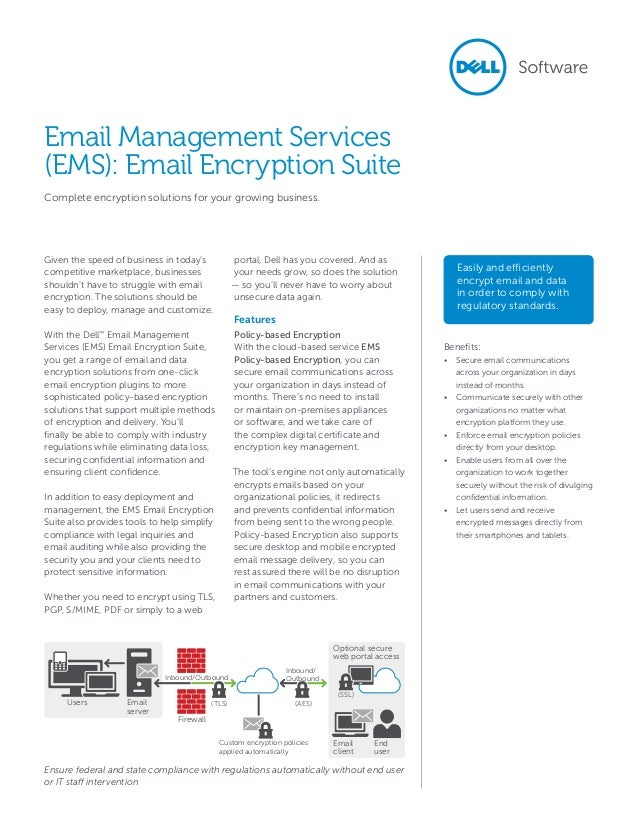 Dell Email Management Services - Email Encryption