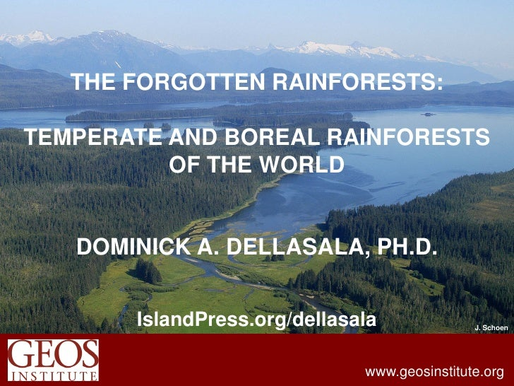 THE FORGOTTEN RAINFORESTS:TEMPERATE AND BOREAL RAINFORESTS          OF THE WORLD   DOMINICK A. DELLASALA, PH.D.       Isla...