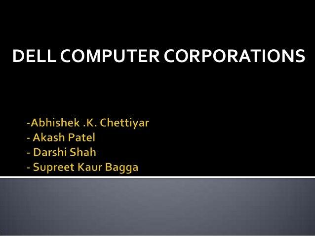DELL COMPUTER CORPORATIONS