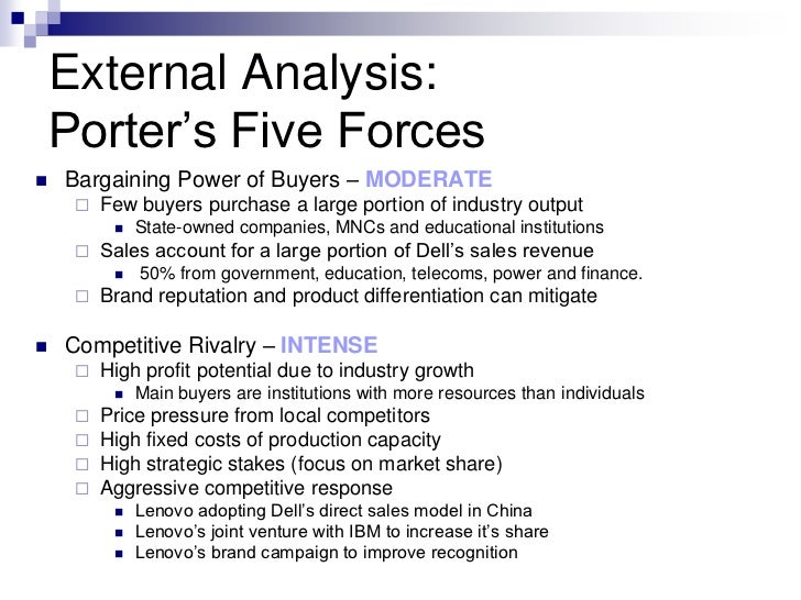 porter analysis china Harvard business school professor michael e porter has developed several theoretical models on competitiveness based on.