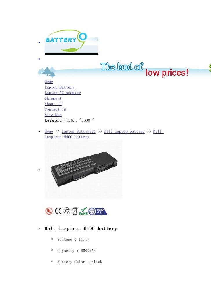 Dell inspiron 6400 battery